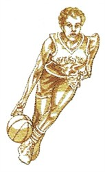 Lady Basketball Player embroidery design