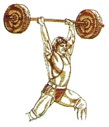 Weightlifter embroidery design
