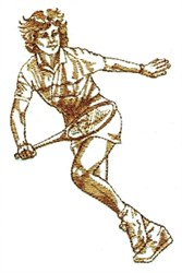 Lady Tennis Player embroidery design