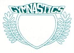 Gymnastics Crest embroidery design
