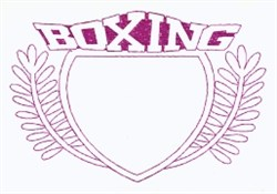 Boxing Crest embroidery design