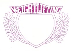Weightlifting Crest embroidery design
