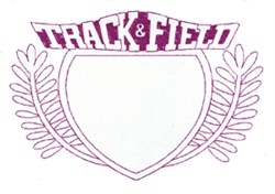 Track & Field Crest embroidery design