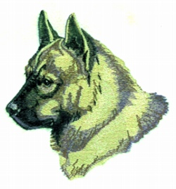 Norwegian Elkhound embroidery design