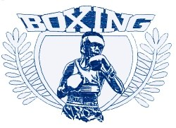 Boxing Boxer Crest embroidery design
