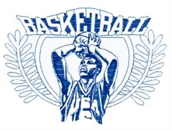 Mens Basketball Crest embroidery design