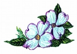 Double  Dogwood embroidery design