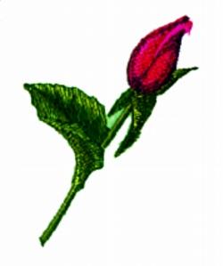 Rosebud embroidery design