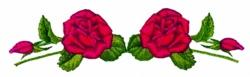 Rose Runner embroidery design