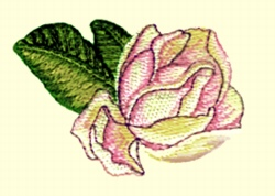 Bud embroidery design