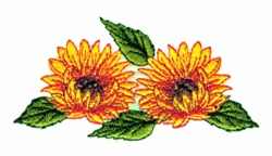 Double Sunflower embroidery design