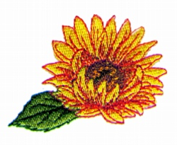 Single Sunflower embroidery design
