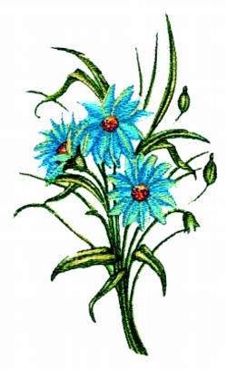 Daisy  Bouquet embroidery design