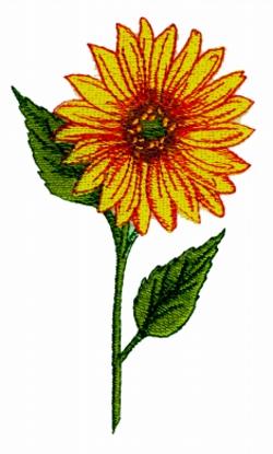 Open Sunflower embroidery design