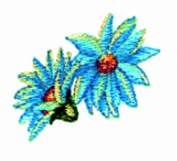 Double Daisy embroidery design