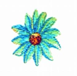 Daisy  Button embroidery design