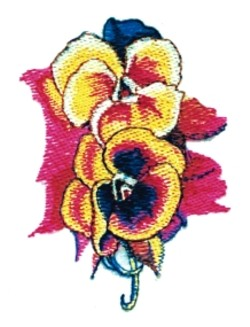 Double Pansy embroidery design