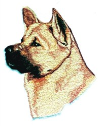 Akita Head embroidery design