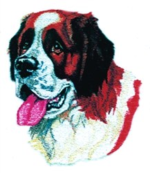 St. Bernard Head embroidery design