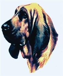 Bloodhound Head embroidery design