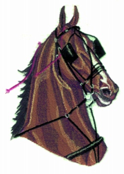 Harness Horse Head embroidery design