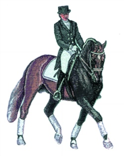 Lady Dressage embroidery design