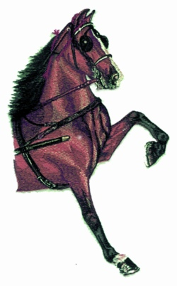 Hackney Pony embroidery design