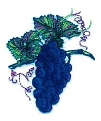 Grape Vine Cluster embroidery design