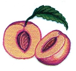 Peach Halves embroidery design