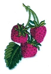 Strawberry Trio embroidery design