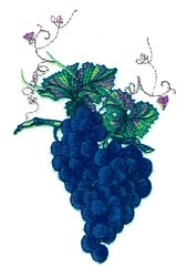 Grape on Vine embroidery design