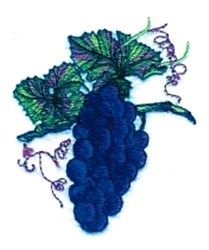 Grapes on Vine embroidery design