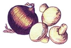 Mushrooms & Onion embroidery design
