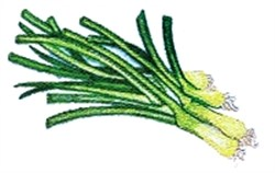 Green Onions embroidery design