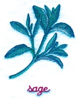 Sage embroidery design