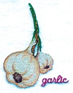 Garlic embroidery design