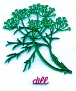 Dill embroidery design