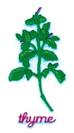 Thyme embroidery design