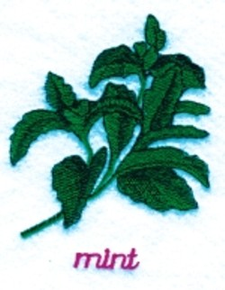 Mint embroidery design