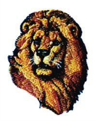Lions Head embroidery design