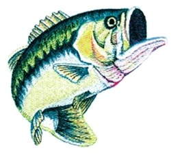 Large Mouth Bass embroidery design