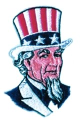 Uncle Sam Head embroidery design