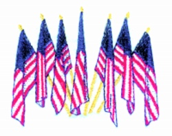 Flags embroidery design