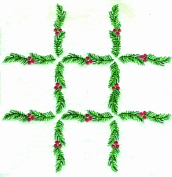 Pine Border embroidery design