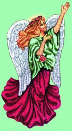 Herald Angel embroidery design