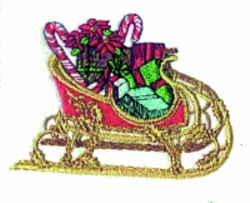 Sleigh embroidery design
