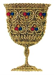 Jeweled Chalice embroidery design