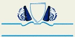Cheerleading Crest embroidery design