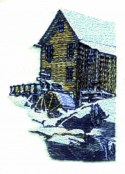 Old Mill embroidery design
