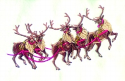 4 Reindeer Rudolph embroidery design